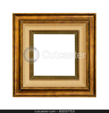 Picture Frame stock photo, Retro Picture Frame Over The White Background by Sergej Razvodovskij
