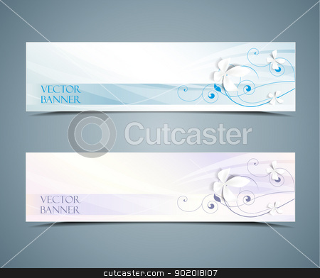 Abstract banners stock vector clipart, abstract vector floral banners set by Miroslava Hlavacova