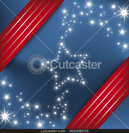 Holiday Illustration with Stars stock vector clipart, Holiday Illustration with Stars eps10 by 99idesign