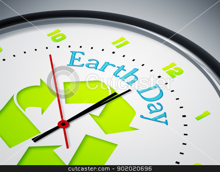 Earth Day stock photo, An image of a nice clock with Earth Day by Markus Gann