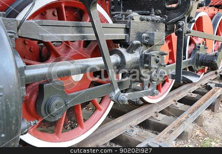 Elements of the steam locomotive  stock photo, Elements of the steam locomotive  by galkinvladimir