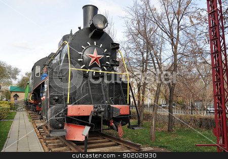 Elements of the steam locomotive  stock photo, Elements of the steam locomotive  by galkinvladimir