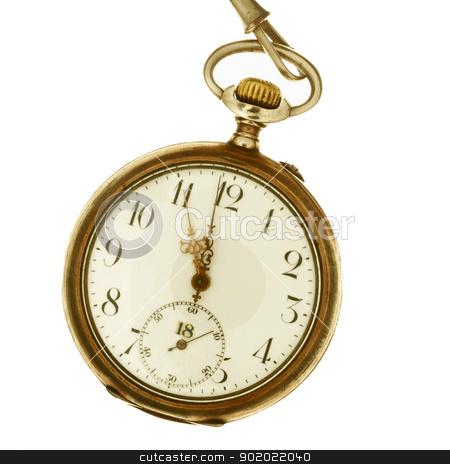 Wristwatch stock photo, Wristwatch with chain in retro style, close up by Desislava Draganova