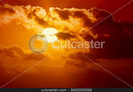 sunset stock photo, An image of a beautiful sunset sky by Markus Gann