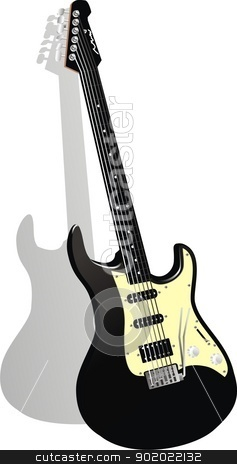 vector guitar stock vector clipart, vector illustration by fcsabi