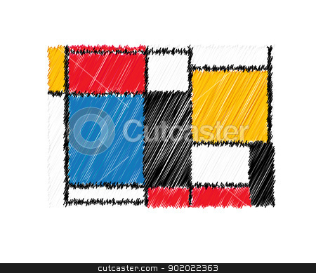 Decorative web icon stock vector clipart, Decorative wed icon suggesting a painting. Isolated objecs over white background. by Richard Laschon