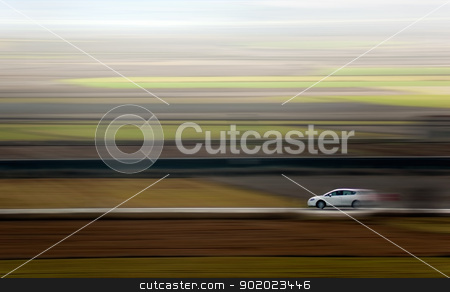 abstract car speed  stock photo, Abstract image of a car and speed by carloscastilla