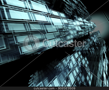 technology background  stock photo, 3d abstract technology background and squares by carloscastilla