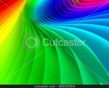 abstract colorful lines stock photo, Abstract 3d image of papers colored by carloscastilla