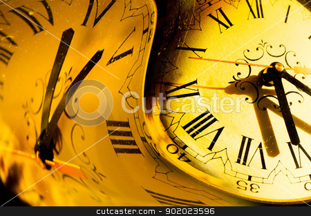 time concept  stock photo, Abstract image of time concept in warm tone by carloscastilla