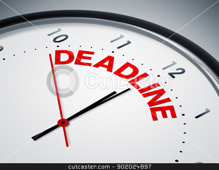 deadline stock photo, An image of a nice clock with deadline by Markus Gann