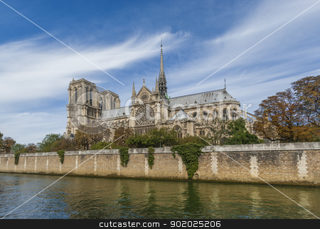 Notre Dame Cathedral - Paris  stock photo, Notre Dame Cathedral started in the 12th century, located in Paris, France by Christian Delbert