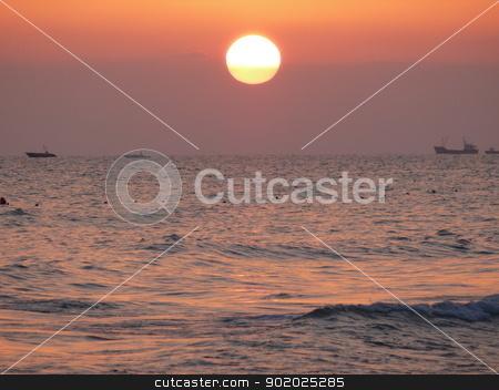 Sunset above mediterranean sea, Turkey stock photo, Sunset above mediterranean sea, Turkey by Stoyanov