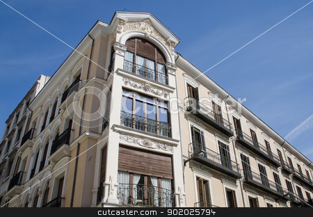 Details of the architecture of a building stock photo, Details of the architecture of a building in Valladolid, Spain. by Homydesign