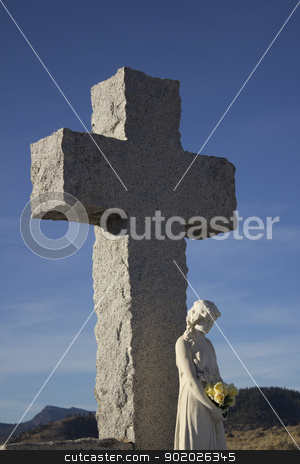 An old cemetery gravestone stock photo, An old cemetery gravestone in loyalton california by Jeremy Baumann