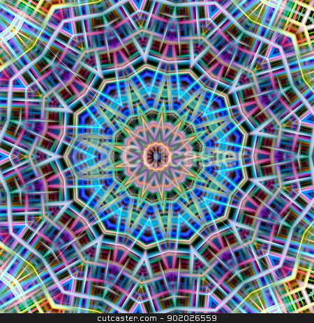 Kaleidoscopic colorful abstract pattern. stock photo, Kaleidoscopic colorful abstract pattern. by Stephen Rees