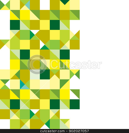 Triangle green tricolour stock vector clipart, Green and yellow presentation background with space for text by Michael Travers