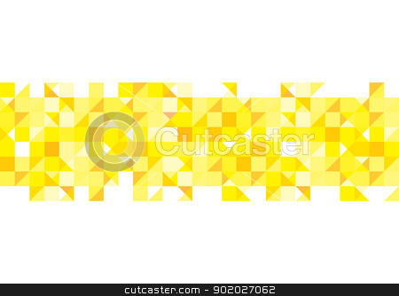 Yellow pattern background stock vector clipart, Abstract yellow square with shades of gold for presentation background by Michael Travers