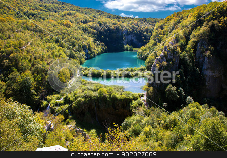 Falling lakes of Plitvice National park stock photo, Falling lakes of Plitvice National park, Croatia by xbrchx