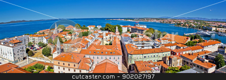 Town of Zadar panoramic view stock photo, Town of Zadar peninsula panoramic view, Dalmatia, Croatia by xbrchx