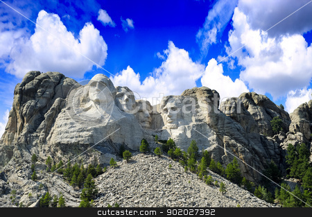 Mount Rushmore stock photo, The presidents carved in granite at Mt. Rushmore, South Dakota by Don Fink