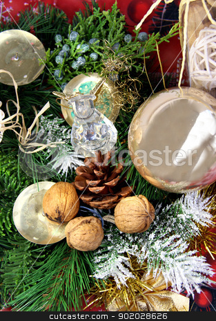 Christmas decorations  stock photo, Big mix of Christmas decorations  by Tatiana Mihaliova