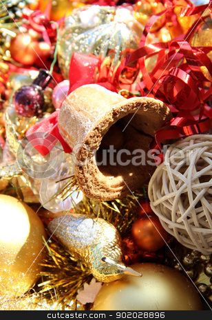 Christmas bell stock photo, Big mix of Christmas decorations and bell by Tatiana Mihaliova