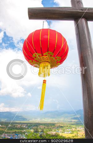 Chinese lanterns stock photo, Chinese lanterns withe white background by iroomm