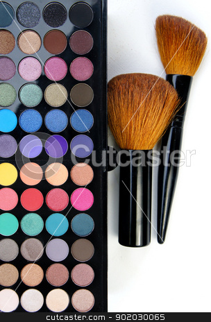 Professional makeup   stock photo, Big set of professional cosmetic                    by Tatiana Mihaliova