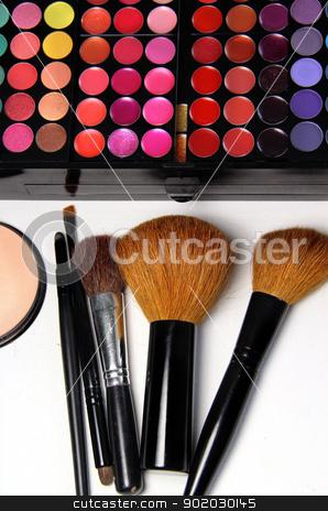 Professional makeup  stock photo, Big set of professional cosmetic  by Tatiana Mihaliova
