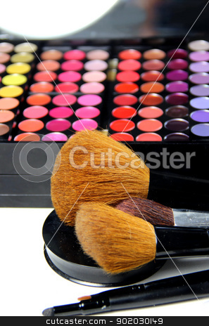 Make-up room stock photo, Big set of professional cosmetic  by Tatiana Mihaliova