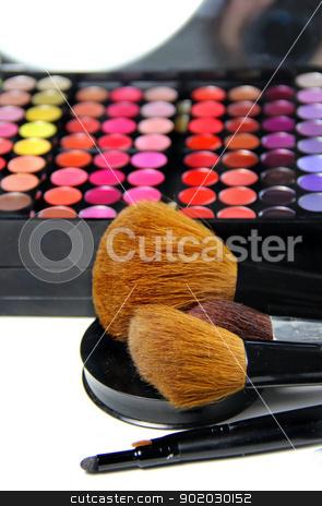 Makeup room stock photo, Big set of professional cosmetic  by Tatiana Mihaliova