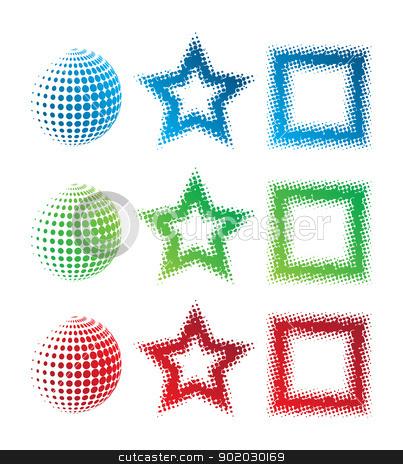 Pixelate Logos stock vector clipart, This image represents a pixelate logo set./Pixelate Logos by Bagiuiani Kostas