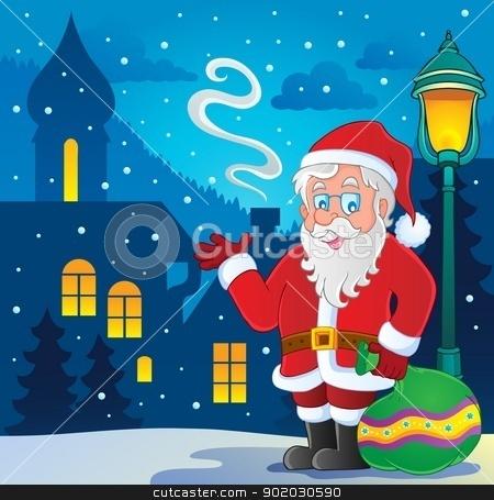 Santa Claus thematic image 7 stock vector clipart, Santa Claus thematic image 7 - vector illustration. by Klara Viskova