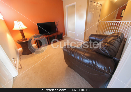 Sitting Room stock photo, An upstairs den, interior shot in a home by Lucy Clark