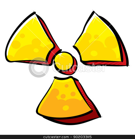 Radioactivity sign stock vector clipart, Radiation symbol created in graffiti style by Oxygen64