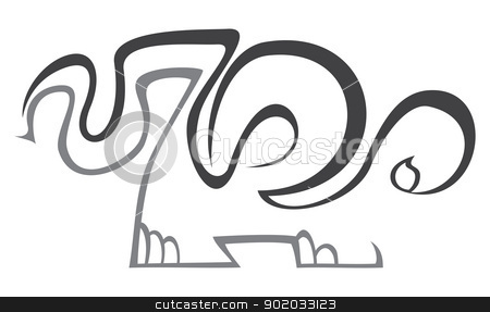 Zoo symbol stock vector clipart, Illustration of zoo isolated on white by Oxygen64