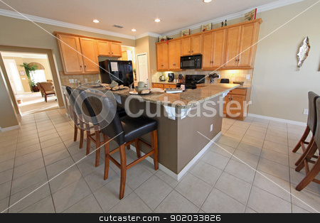 Kitchen stock photo, An interior shot of a Kitchen in a home by Lucy Clark