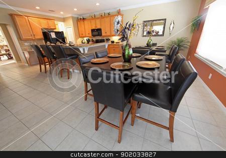 Kitchen and Dining Area stock photo, An interior shot of a kitchen and dining area by Lucy Clark
