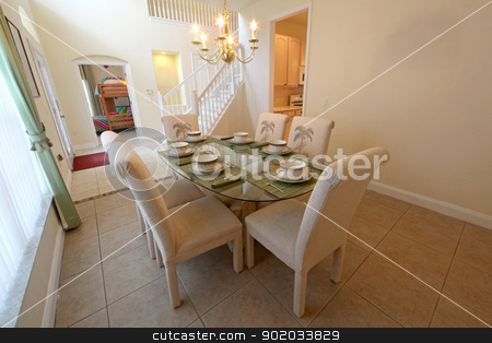 Dining Room stock photo, An interior shot of a dining room in a home by Lucy Clark