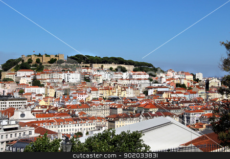 Lisbon panorama, Portugal  stock photo, Lisbon panorama, Portugal  buildings, roofs, churches  by Tatiana Mihaliova