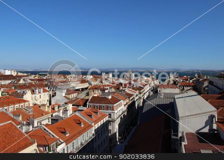 Lisbon panorama, Portugal  stock photo, Lisbon panorama, Portugal  buildings, roofs, churches by Tatiana Mihaliova