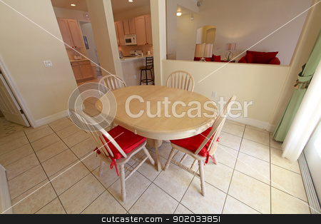 Breakfast Area stock photo, An Interior Shot of a Breakfast Area of a Home by Lucy Clark