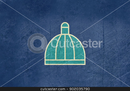 Grunge Durban city flag stock photo, Grunge illustration of Durban city flag in South Africa. by Martin Crowdy