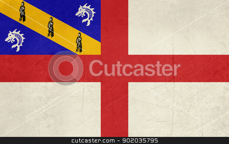Grunge Herm Flag stock photo, Grunge sovereign state flag of dependent country of Herm in official colors.  by Martin Crowdy