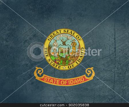 Grunge Idaho state flag stock photo, Grunge Idaho state flag of America, isolated on white background. by Martin Crowdy