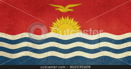 Grunge Kiribati flag stock photo, Grunge sovereign state flag of country of Kiribati in official colors. by Martin Crowdy