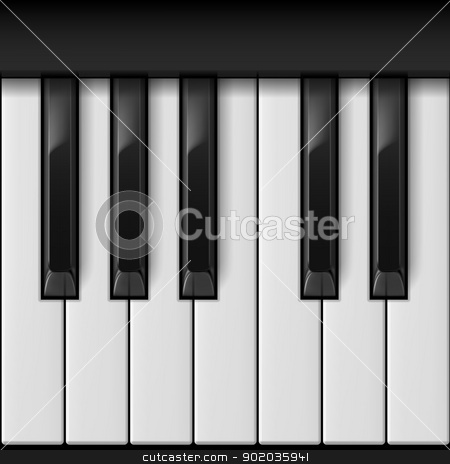 Piano keys stock photo, Piano keys. Cool illustration for creative design by dvarg