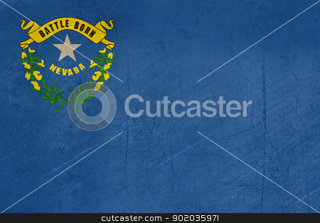 Grunge Nevada state flag stock photo, Grunge illustration of Nevada state flag of America. by Martin Crowdy