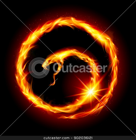 Abstract spiral snake stock photo, Abstract spiral snake. Illustration on black background by dvarg